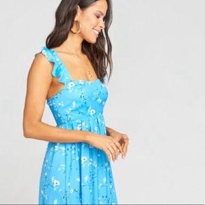 NEW Show Me Your MuMu Blue Floral Gemini Jumpsuit